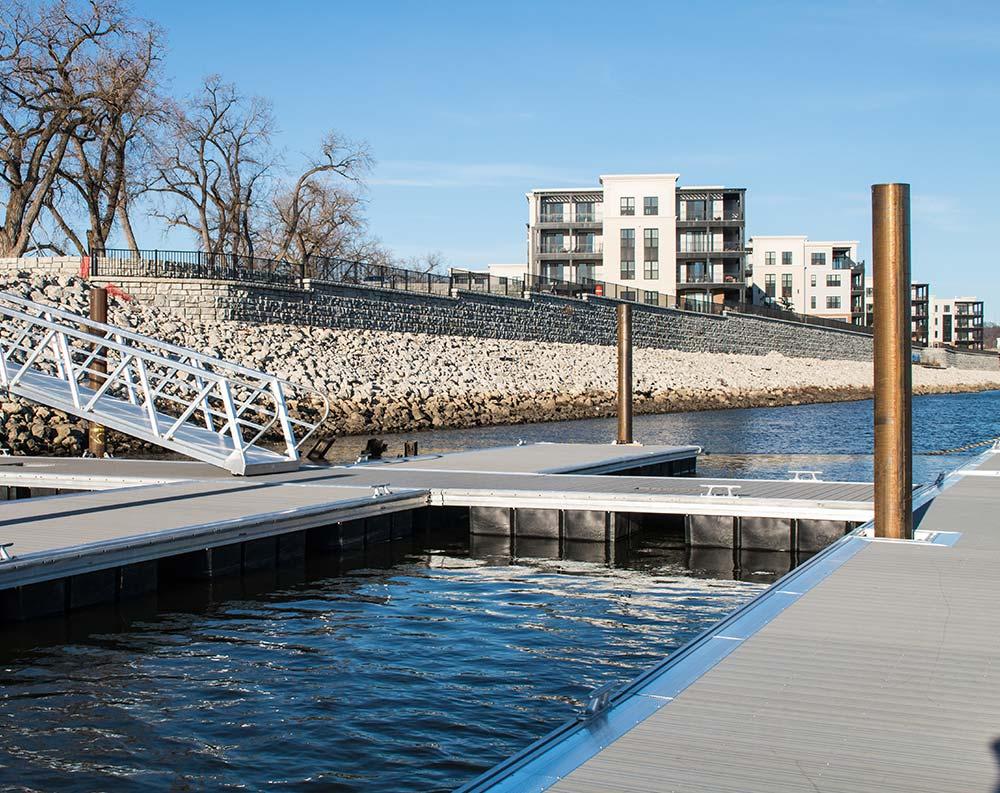 Docks on river